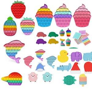 DHL Rainbow Fidge Toy Sensosory Пузырь Декомпрессионный аутизм Особые нуждается в беспокойстве Стресс для взрослых