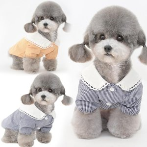 Camisa de perro verano mascota disfraz de vestir gato cachorro Yorkshire terrier ropa maltés shih tzu pomeranian caniche bichon ropa 2021