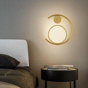 Minimalista moderno LED Lâmpadas de Parede Simples Casa Lâmpada de cabeceira Nordic Hotal sala de estar fundo luz de parede criativa corredor de escadaria