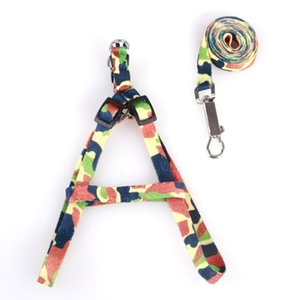 Dog Harness Leashes Pet Necklace Rope Tie Collar Nylon Printed Adjustable Pet Dog Collar Puppy Cat Animals Accessories 1.0*110cm ZZE6037