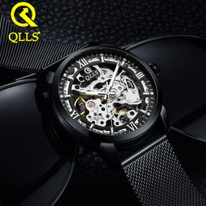 Wristwatch Qlls Mechanical Watch Automatic Waterproof Hollow Out Trend Student Men's