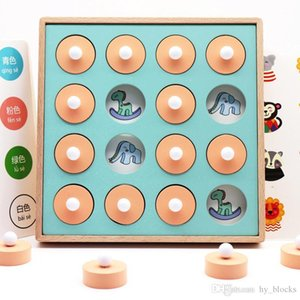 Kids Wooden Memory Match Chess Game Children Early Educational 3D Puzzles Family Party Casual Game Education Toy