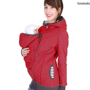 Autumn Parenting Child Women's Sweatshirts Solid Baby Carrier Wearing Hoodies Maternity Mother Kangaroo Hoodies Clothes