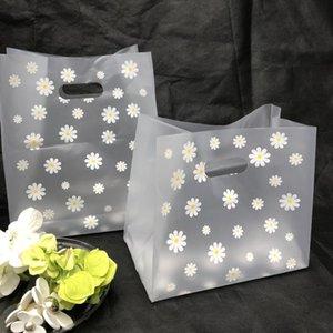 25pcs merchandise bolsas de compras boda fiesta orangizador caramelo pastel envolver envoltura bolsa de envasado regalo plástico con el almacenamiento de la manija
