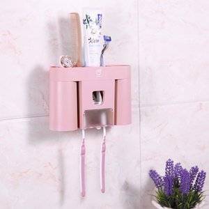 Storage Toothbrush Holder Automatic Convenient Toothpaste Dispenser Practical Easy Installation Home Bathroom Accessories Tools