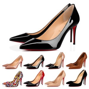 Christian Louboutin CL High Heel So Kate Dress shoes Red Bottoms womens Stiletto Heels 8 10 12CM Genuine Leather Point Toe Pumps designer