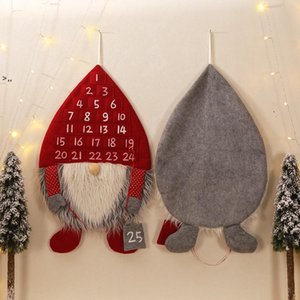 Hot Christmas Decor Advent Calendar Forest Man Christmas Ornaments Lobby Home Living Room Door Wall Party Pendant Decorations OWF10466