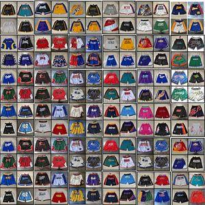 Just Don Baloncesto Shorts Zipper Sweetpants Hip Pop Sport Pantalón corto con bolsillo Mitchell y Ness Retro Baseball cosido 2021 2022 Blanco azul negro