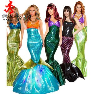Halloween Costume Adult Mermaid Princs Drs Sequin role play perforce evening drs sexy cht wrap