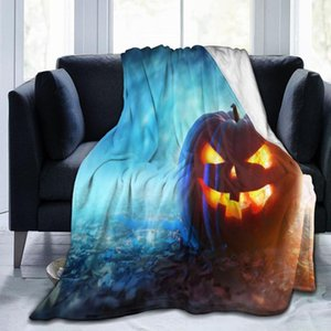 Blankets Halloween Gift Throw Blanket Super Soft Plush Air Conditioning Flannel Pumpkin Warmth Microfiber Sofa 60x50
