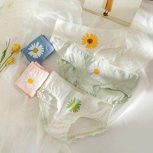 Little Daisy Underwear Women Pleated Seamless Underpants Cotton Panties Lingerie Lovely Girl Briefs Women's