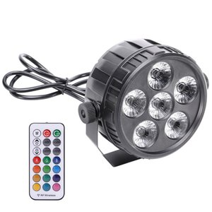 RGBW 6 LEDs 50W Par Light Stage Effect Lighting with Wireless Remote Controller for Live Concerts KTV Disco DJs Clubs