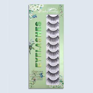 10 Pairs 3D Faux Mink False Eyelashes DIY Handmade Lashes Extension Natural Fluffy Wispy Fake Eyelash For Beauty