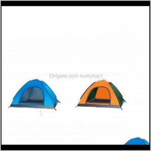 Tents And Hiking Sports Drop Delivery 2021 Full Matic Camping 1 2 3 Person Single Door Tent Diy Beach Rain Proof Shelters Skylight Family Bre