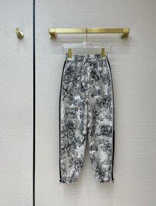 Milan Runway Jeans 2021 Spring Summer Diseñador de moda Pantalones rectos Marca Mismo estilo Pantalones para mujer de lujo 0331-6