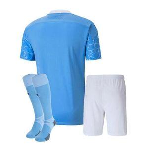 2020 2021 JESUS DE BRUYNE KUN AGUERO kits de camiseta de fútbol para niños 20/21 MAHREZ STERLING SANE kit de camiseta de fútbol para hombres y niños