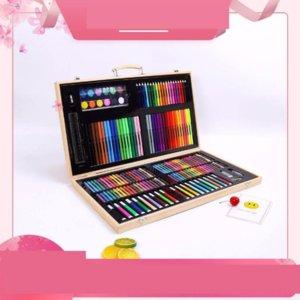 tPKd 180 wooden box children's watercolor art set children's stationery gift color pen writing brush brush of painting pens painting