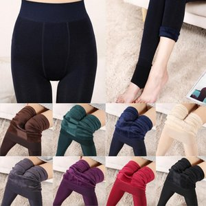 Women's Leggings Fashion Autumn Winter High Elasticity Thick Velvet Pants Warm Waist Female Leggins
