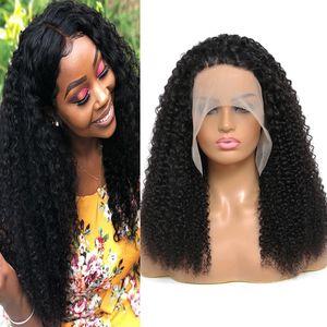 Menschliche Haarperücken Lace Front Perücke Natürliche Farbe 4x4 13x4 13x6 13x1 Gerade Körper Tiefwelle Verknappiges lockiges Wasser für Frauen