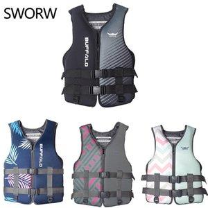 Life Vest & Buoy Neoprene Jacket Watersports Fishing Kayaking Boating Swimming Safety Buoyancy For Kids Adult 30KG-110KG