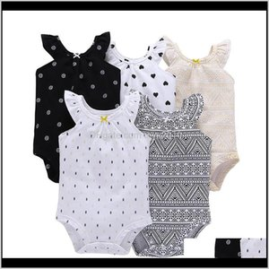 Rompers Jumpsuits&Rompers Baby, & Maternity Drop Delivery 2021 Designer Clothes Summer Kids Clothing 5Pcs Set Baby Cotton Short-Sleeved Princ