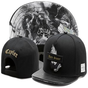 High Quality Cayler & Sons leather brim Baseball Caps Born Sinner god pray Men gorras bones Snapback Hats Adjustable Sports Snapbacks For Adult