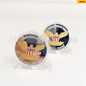 2024 US Election Trump Commemorative Coin Gold Plated Silver Plated Double Colored Iron Coins Crafts CA16
