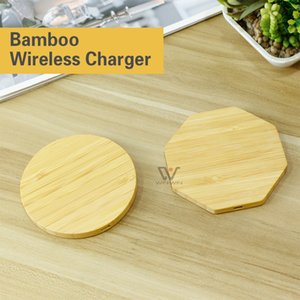 Bamboo Wireless Charger Wood Wooden Pad Qi FastCharging Dock USB Tablet Charging For iPhone 11 Pro Max ForSamsung Note10 Plus