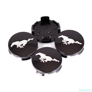4PCS 2015-2020 55mm Mustang Black Chrome Running Horse Wheel Center Caps