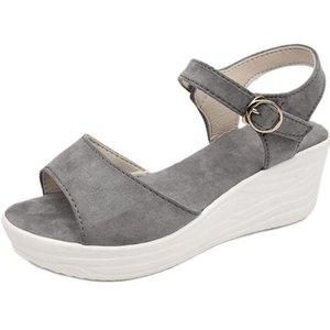 Summer New Sandals Wedges Women Platform Thick Bottom All-Match Buckle Women Shoes Flip Flops Open Toe Sandalias Mujer