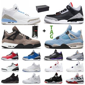 retro 3 basketball shoes Herren Basketballschuhe Jumpman Damen Turnschuhe Schwarzer Zement UNC 4s Neon Weißer Zement 5s Traube 11s Gezüchtet