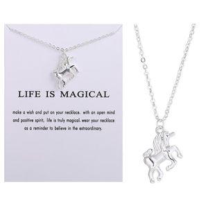 Unicorn Necklace Pendant Collarbone Chain