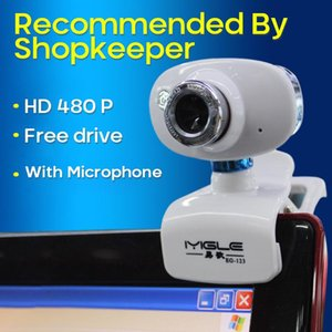 Webcams 480P Webcam Computer Camera USB 2.0 Laptop Clip-on Rotatable Night Vision CMOS Video Online Class With MIC