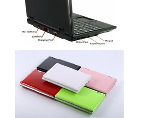 2 pcs Portable Pocket Mini Laptop Micro Computer Notebook PC 7 inch screen size 8gb hard drive fast internet access