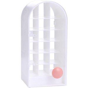 Jewelry Pouches, Bags Lipstick Holder Make-Up Organizer Cosmetic Storage Box Lip Gloss Rotating Display Stand Plastic