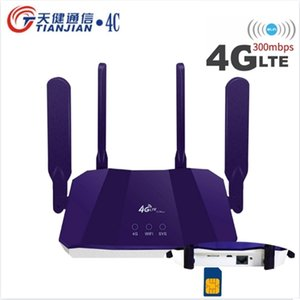 Router 4g Sim Card 300Mbps Wireless WIFI 3G Modem Unlocked Outdoor LTE Wi-Fi Booster Car Networking WAN LAN RJ45 Port Routers 210918