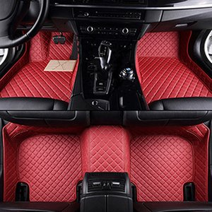 leather car floor mats for Alfa Romeo Giulia Custom foot Pads automobile accessories