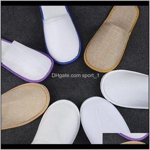 Bath Supplies Home & Garden Drop Delivery 2021 Dvgc Pairs Of White El Disposable Spa 25 Guestsclosed Toe Slippers For And Men Women Qpqvm
