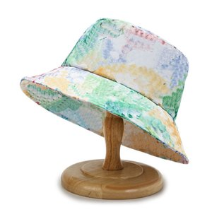 L-letter logo Bucket cap men's and women's same washbasin hat versatile leisure colorful fashion fisherman hat 8 styles