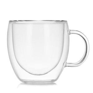 1 개 내열성 이중 벽 맥주 커피 컵 세트 수제 크리 에이 티브 맥주 머그잔 차 유리 위스키 유리 컵 Drinkware 도매 537 R2