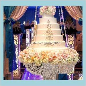 Autres Festifs Fête Fournitures Accueil Jardin Cristal de Prestige Suspension de gâteau Stand de mariage Perles transparentes Centre de table de fleurs acryliques