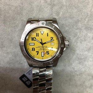 U1 Фабрика Top Sale 2813 Автоматические часы Мужчины Супер океан желтый циферблат 316 Нержавеющая полоса Механическая 42 мм наручные часы Бесплатная доставка
