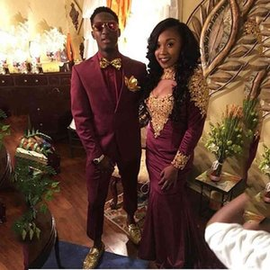 Men's Suits & Blazers Burgundy Slim Fit Wedding Men Groom Wear Notched Lapel Bridegroom Blazer Costume Homme Formal 2Pcs Jacket Pa