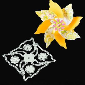Painting Supplies Metal Cutting Dies Die Cut 3D Windmill Flower Spinner DIY Scrapbook Card Pinwheel Fan Party Embossing Folder Stencils Temp