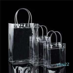 Transparent Plastic Handbags beach Shoulder bag Women Trend Tote Jelly Fashion PVC Clear Bag Shopping Bags for Grocery Tote