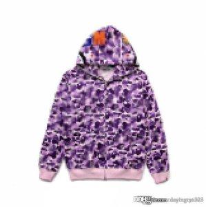 2020 heiß ein baden ape hoodie baumwolle splice jacke mäntel camo herren womens coolen pullover