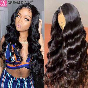DreamDiana Brazilian Body Wave Remy 360 al Gluels 150 Density 4x4 13x4 Lace Front Hu Hair Wigs