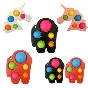 O mais recente roedor pioneiro brinquedos keychain dedo bolha música unicórnio lobisomem matam a ponta do dedo decompressão brinquedo
