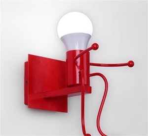E27 الحديثة مصباح الجدار الحديثة الإبداعية شنت الحديد الشمعدان الجدار ضوء لغرفة النوم الممر الخيانة lampara pared1 723 v2