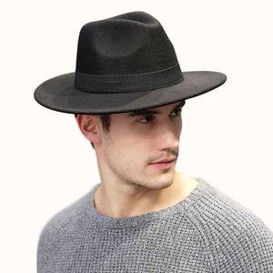 Fashio Wide Brim 8CM Felt Jazz Fedora Hats WIth Black Ribbon Bow Decor Women Unisex Panama Party Trilby Cowboy Cap